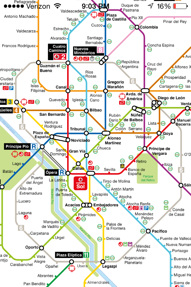 Madrid's metro map