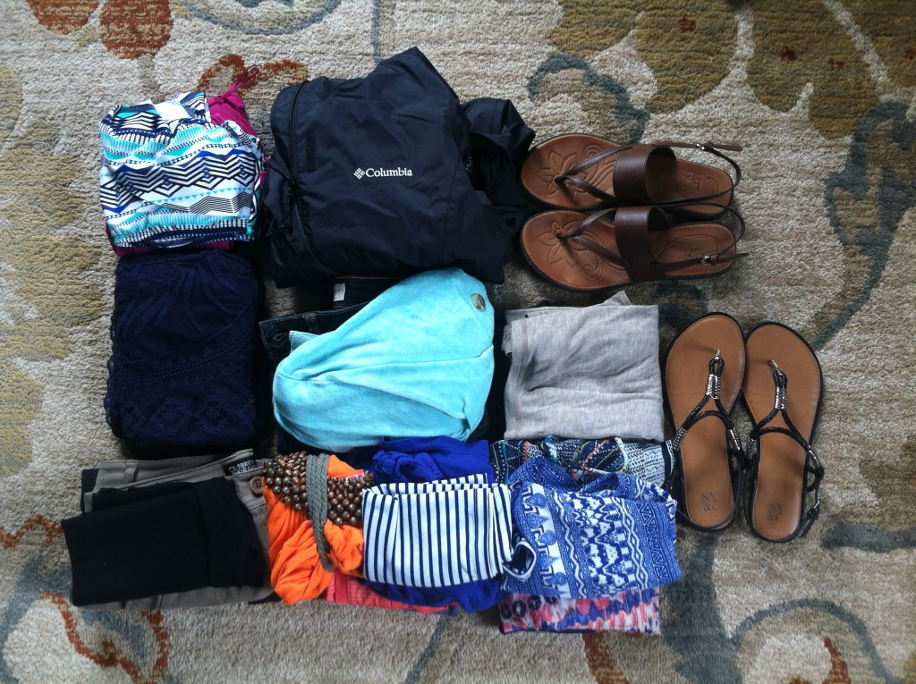 clothes to be packed