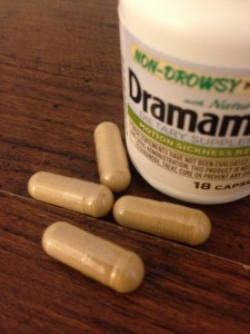 dramamine non-drowsy with Ginger