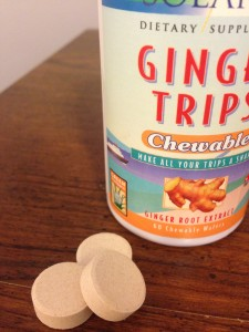 Ginger Trips Chewable Wafers