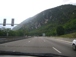driving through france